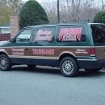 Cram information onto a van