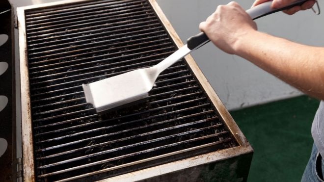 Cleaning my grill
