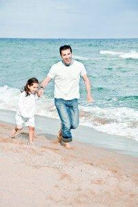Skipping on the Beach